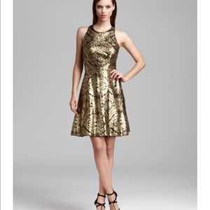 Gold and black Adrianna Papell  dress size 6